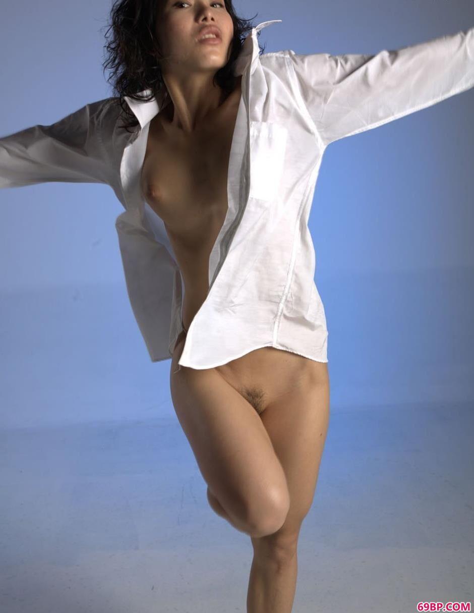 小雪室拍衬衫人体,人体艺术摄影沟沟美女
